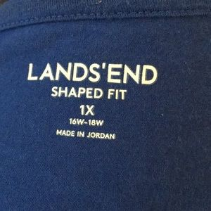 Blue lands end shirt